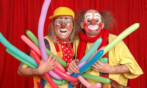 Клоуны с шарами